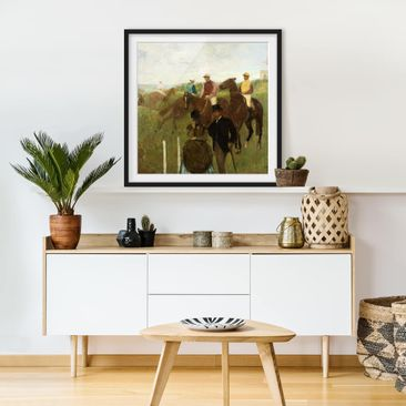 Product picture Framed print - Edgar Degas - Jockeys On...