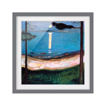 Product picture Framed print - Edvard Munch - Luna Night...