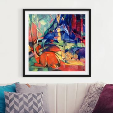 Product picture Framed print - Franz Marc - Deer In The...