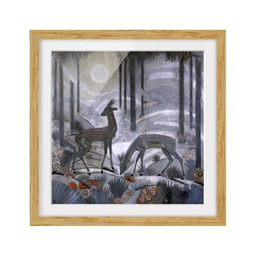 Product picture Framed print - Jean Dunand - Two Deer In...