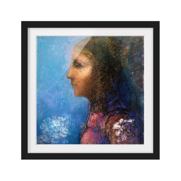Product picture Framed print - Odilon Redon - Profile -...