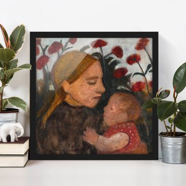 Immagine del prodotto Poster con cornice - Paula Modersohn-Becker - Young Woman With Child - Quadrato 1:1