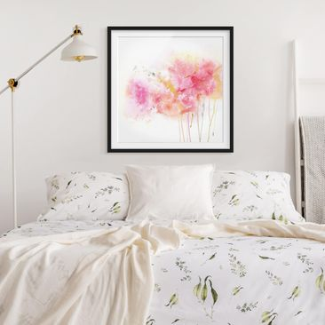 Product picture Framed print - Watercolor Flowers...
