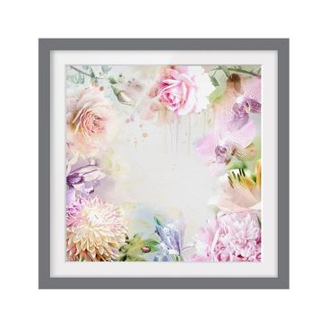 Product picture Framed print - Watercolor Mix Of Pastel...