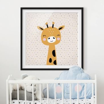 Product picture Framed print - Baby Giraffe - Square...