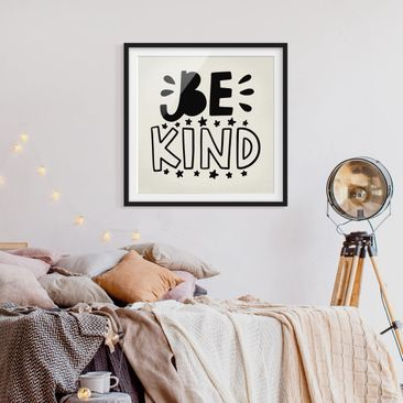 Product picture Framed print - Be Kind - Square Format...