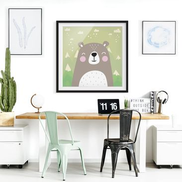 Product picture Framed print - Bear - Square Format 1:1