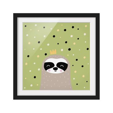 Product picture Framed print - The Laziest Sloth -...