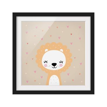 Product picture Framed print - The Gentle Leo - Square...