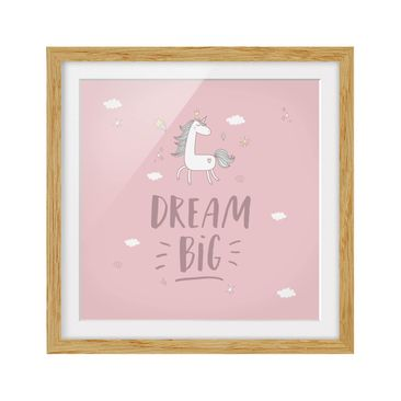Product picture Framed print - Dream Big Unicorn -...