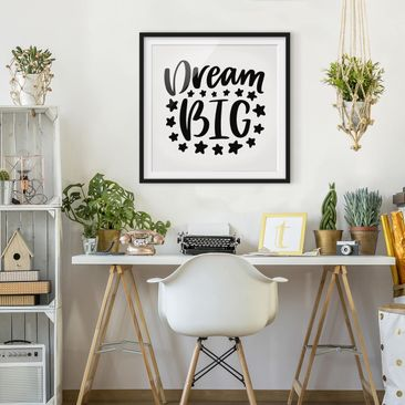 Product picture Framed print - Dream Big - Square Format...