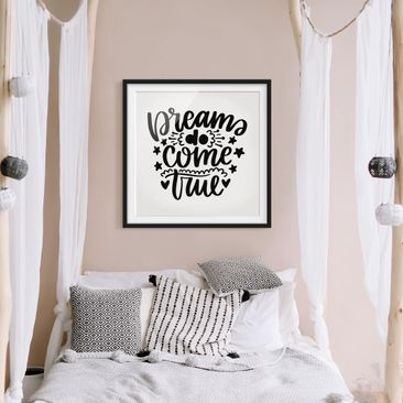 Product picture Framed print - Dreams Do Come True -...