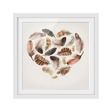 Product picture Framed print - Heart Of Feathers -...