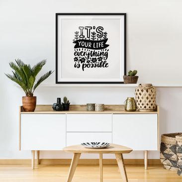 Product picture Framed print - It'S Your Life - Square...