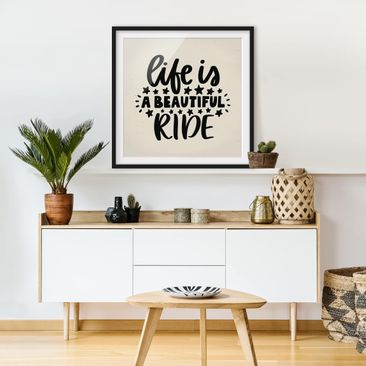 Product picture Framed print - Life Is A Beautiful Ride...
