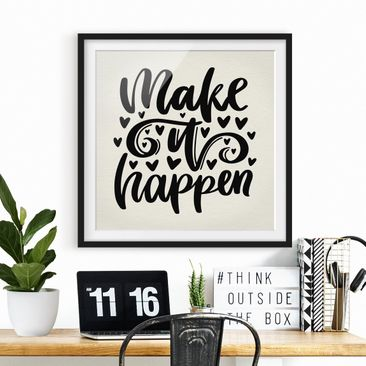 Product picture Framed print - Make It Happen - Square...