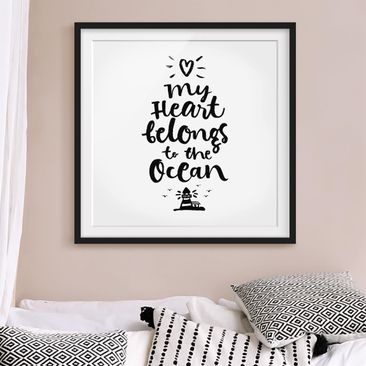 Product picture Framed print - My Heart Belongs To The...