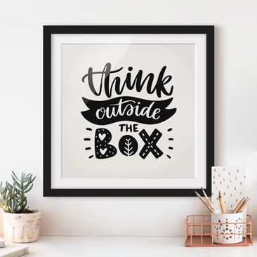 Product picture Framed print - Think Outside The Box -...