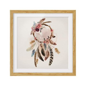 Product picture Framed print - Dream Catcher With Roses...