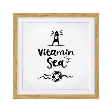 Product picture Framed print - Vitamin Sea - Square...