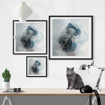 Product picture Framed print - Full Moon - Square Format...