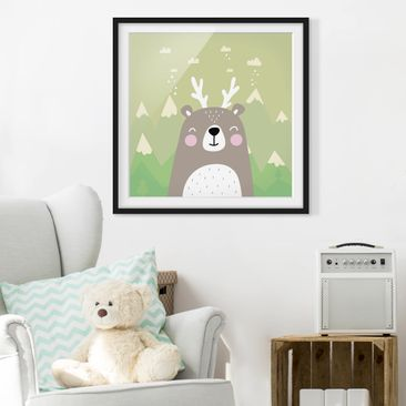 Product picture Framed print - Wolpertinger Bears -...