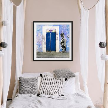 Product picture Framed print - Blue Main Entrance -...