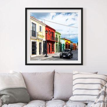Product picture Framed print - Colorful Facades Black...