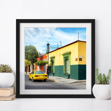 Product picture Framed print - Colorful Mexican Street -...