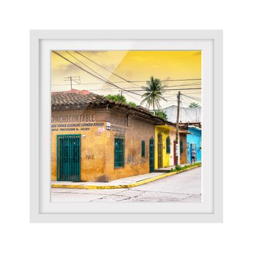 Product picture Framed print - Colorful Street Sunset -...
