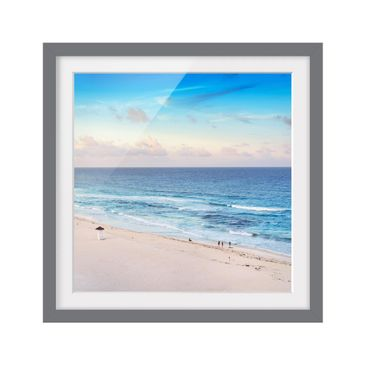 Product picture Framed print - Cancun Ocean Sunset -...