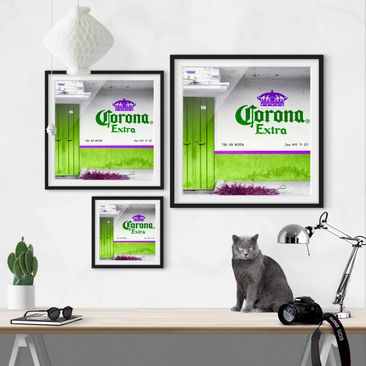 Product picture Framed print - Corona Extra Green -...