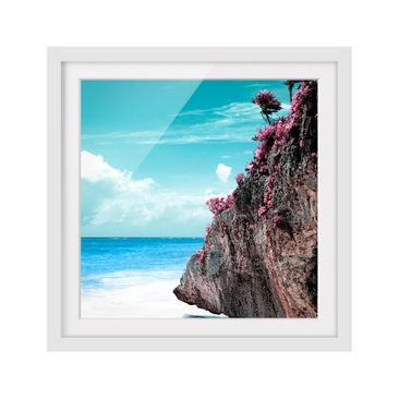 Product picture Framed print - Rock In Caribbean -...