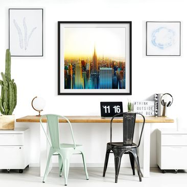 Product picture Framed print - Manhattan Abstract -...