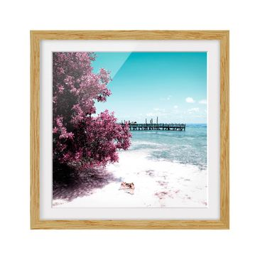 Product picture Framed print - Paradise Beach Isla...