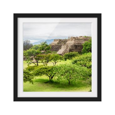 Product picture Framed print - Pyramid Of Monte Alban -...