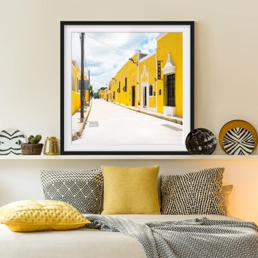 Product picture Framed print - City In Yellow - Square...