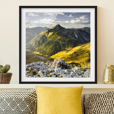 Product picture Framed print - Mountains And Valley Of...