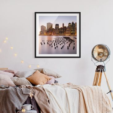 Product picture Framed print - View Of Manhattan Skyline...