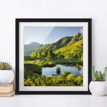 Product picture Framed print - View From Hirschbichl To...