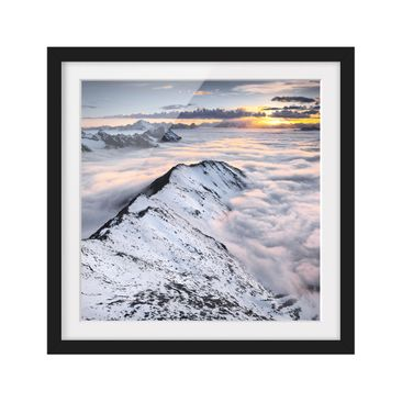 Product picture Framed print - View Of Clouds And...