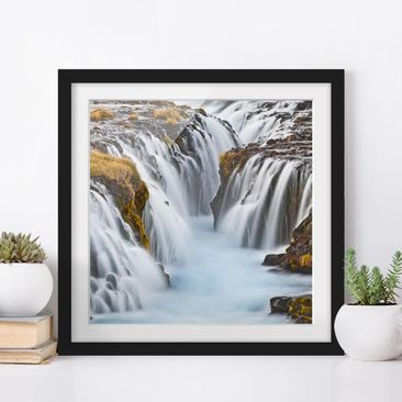 Product picture Framed print - Brúarfoss Waterfall In...