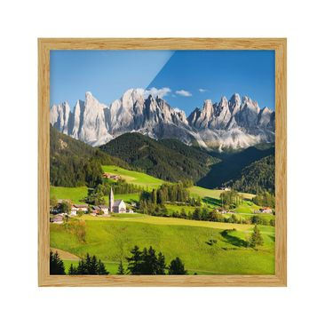 Product picture Framed print - Geislerspitzen In South...