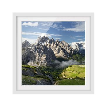 Product picture Framed print - Italian Alps - Square...