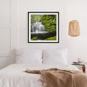 Product picture Framed print - Lower Mclean Falls In New...