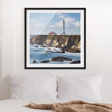 Product picture Framed print - Point Arena Lighthouse...