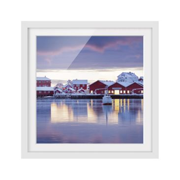 Product picture Framed print - Reine In Norway - Square...