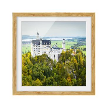 Product picture Framed print - Neuschwanstein Castle...
