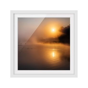 Product picture Framed print - Sunrise On The Lake With...