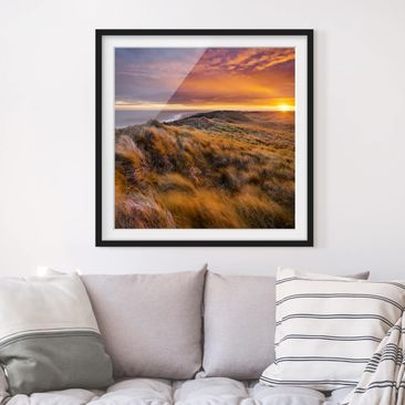 Product picture Framed print - Sunrise On The Beach Of...